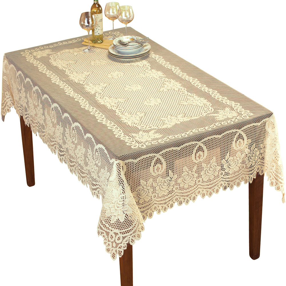 Rectangle Tablecloth Vintage Lace Table Cloth Valentines Day Decor 60x90inch Ebay