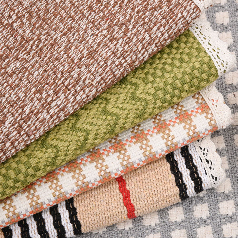 Linen Woven Tablecloth With Storage Bag Thicken Mat for Coffee Table Cover Towel