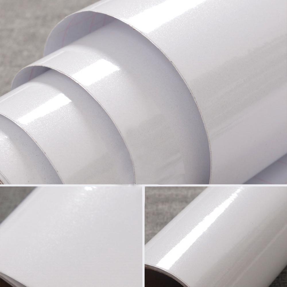 White Gloss Kitchen Cabinets Ebay: Gloss White Vinyl Contact Paper Self Adhesive Wallpaper