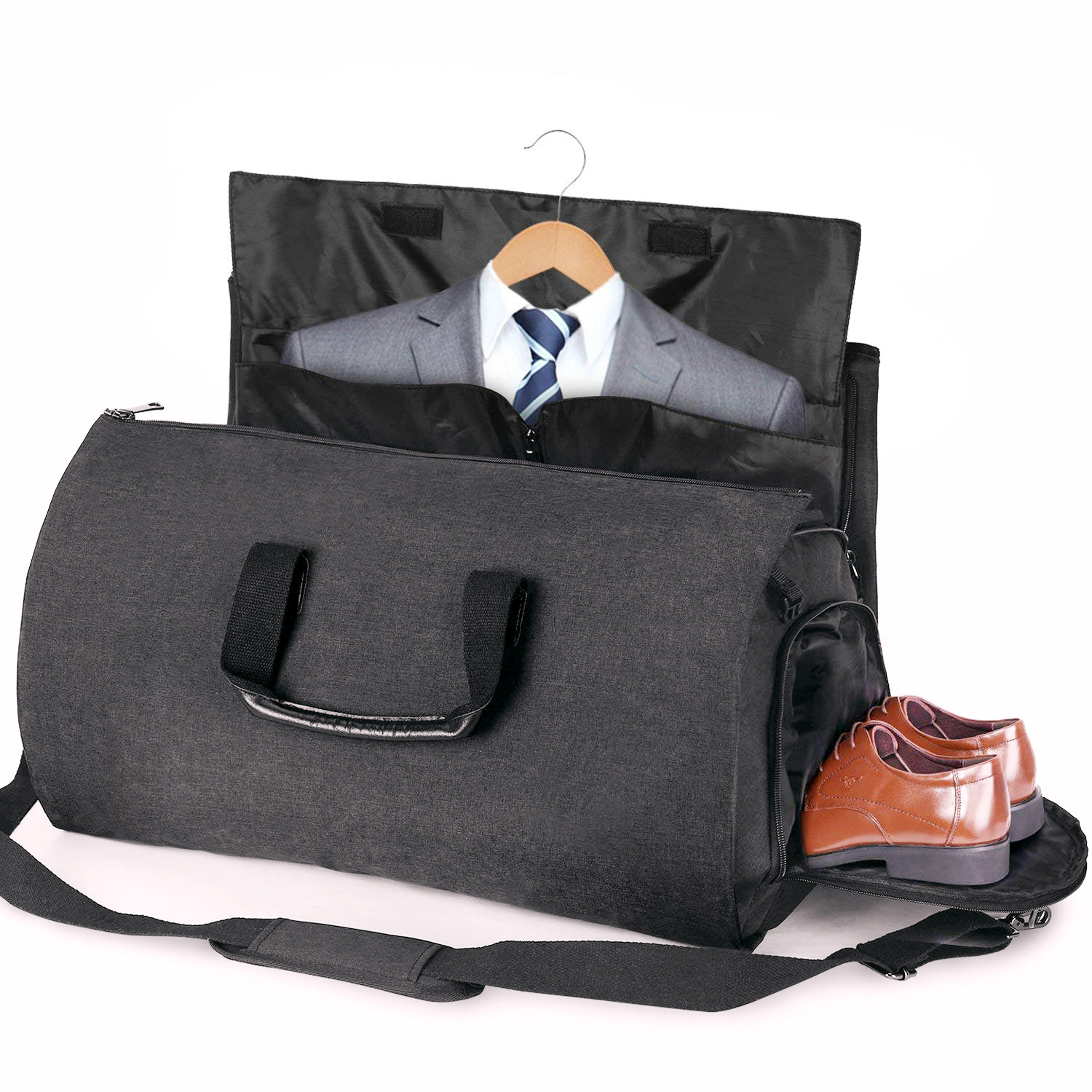 Details About 2 In 1 Convertible Garment Suit Travel Gym Bag Carry On Duffle Luggage Large
