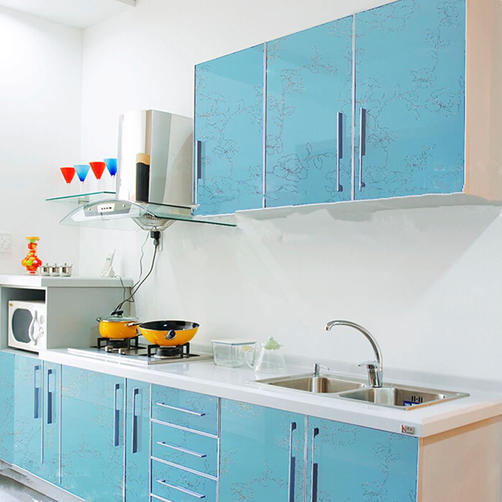 Blue Wallpaper Roll Self Adhesive Contact Paper Drawer Shelf Liner Kitchen Decor Ebay