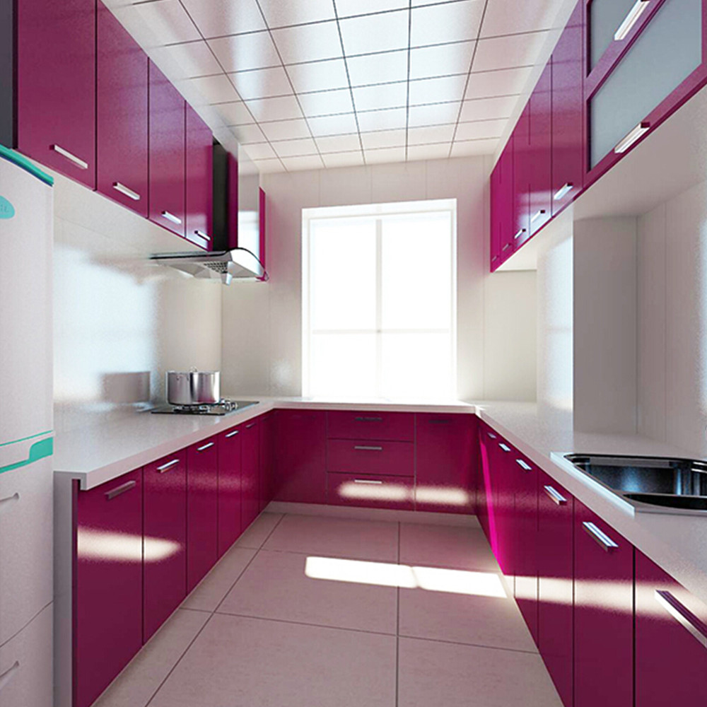 Purple Glitter Self Adhesive Cupboard Door Cover Kitchen Drawer Liner Vinyl Wrap Ebay