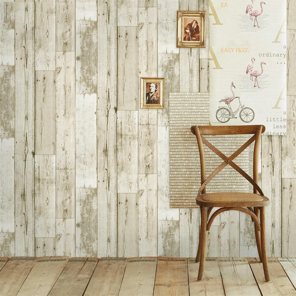 Details About Vintage Wood Plank Wallpaper Self Adhesive Contact Paper Furniture Wall Stickers